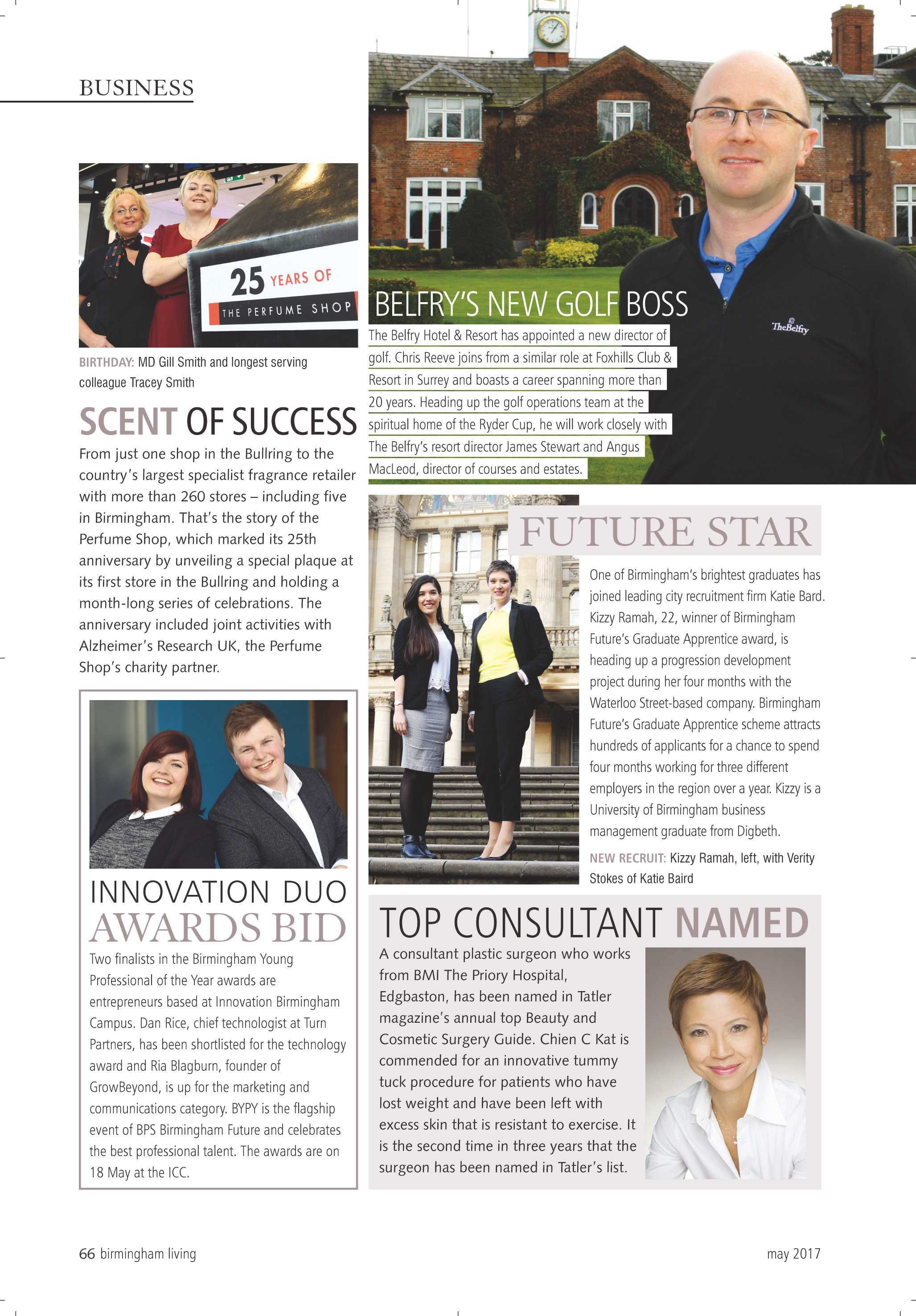 Birmingham Living magazine names CC Kat as top cosmetic